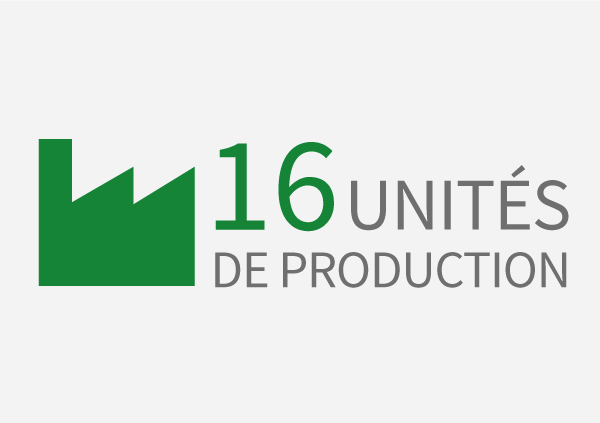 16 sites de production